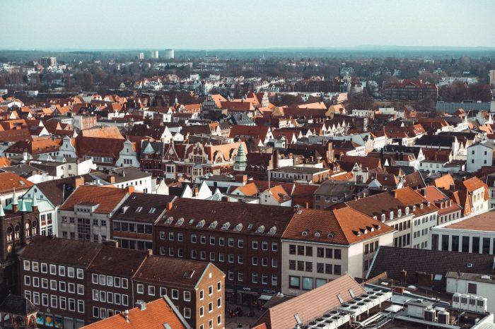 Stadt Lübeck von oben